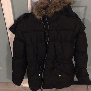 new black fur hood girls xl (16) Rothschild coat